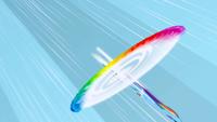 Rainbow Dash doing a sonic rainboom 2 S1E16