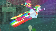 Rainbow Dash flying with Scootaloo EG.png