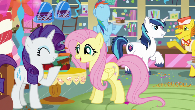 File:Rarity, Fluttershy, and Rainbow enjoy the party S5E19.png