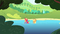 AJ and Big Mac in the water S4E20.png