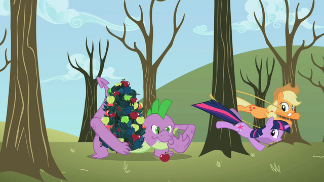 File:Applejack and Twilight tie up tree instead of Spike S2E10.png