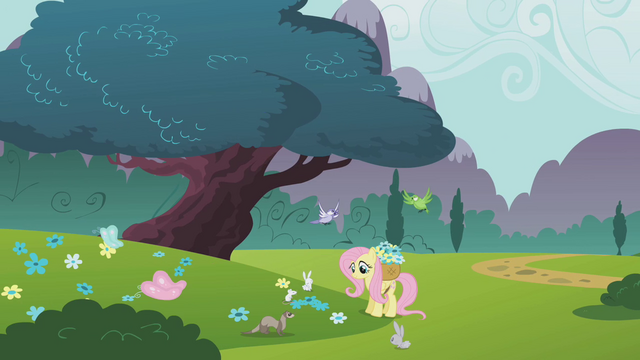 File:Fluttershy picking flowers S1E10.png