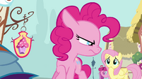 Pinkie Pie glaring at Fluttershy S4E12
