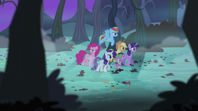 File:Main cast searching for Flutterbat S4E07.png