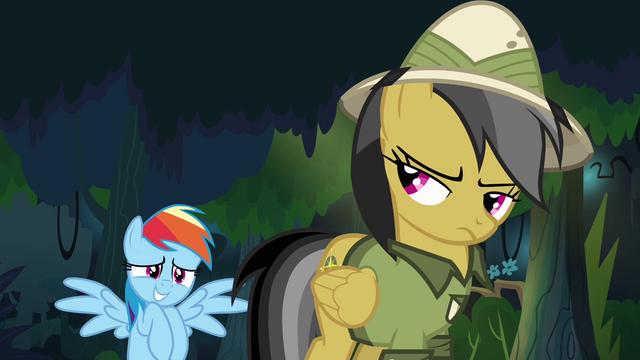 File:Rainbow Dash nervous around Daring Do S4E04.png