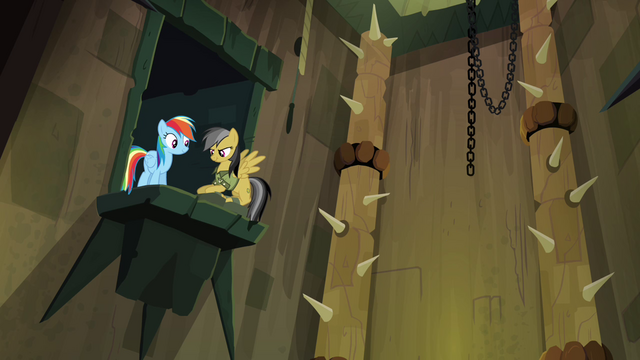 File:Rainbow and Daring on ledge S4E04.png