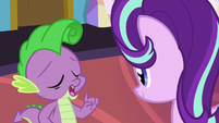 Spike imitating Rarity S7E1