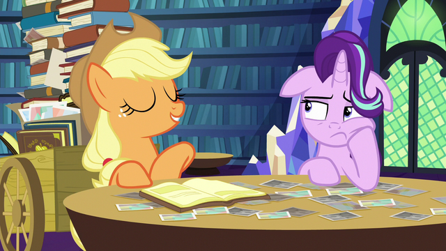 """File:Applejack """"if you can't say anythin' nice"""" S6E21.png"""