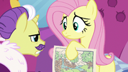 Dandy disapproves of Fluttershy's color scheme S7E5.png