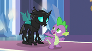 Spike introducing Thorax as his friend S6E16