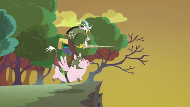 File:Discord and Pigasus flying toward the Hive S6E26.png