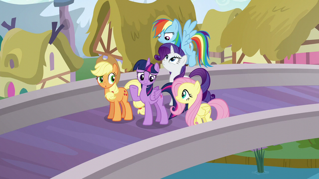 """File:Mane Six with """"oh, well"""" expressions S5E19.png"""