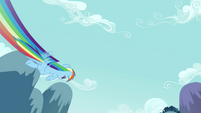 Rainbow Dash flying past 1 S2E16