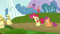 Apple Bloom and Scootaloo running out of ideas S7E6.png