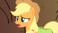 Applejack concerned for the safety of her missing friends S1E21