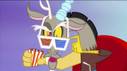 Discord wearing 3D glasses S4E02