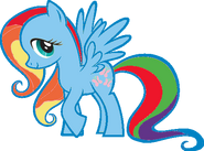 FANMADE Fluttershy Rainbow Dash pallette swap by Mewkat14