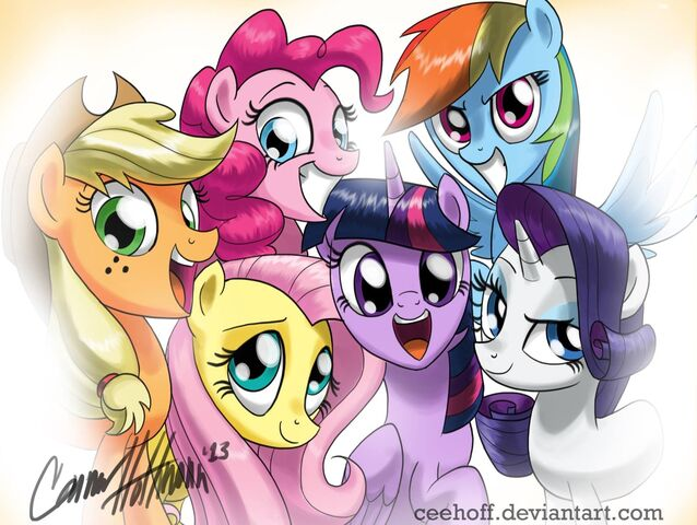 File:FANMADE art of the mane 6.jpg