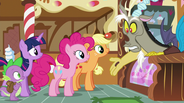 """File:Discord """"and then Applejack said"""" S5E22.png"""
