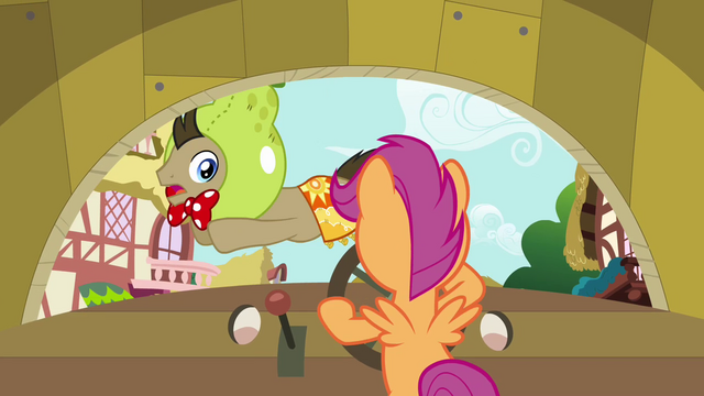 File:Dr. Hooves jumping across the windscreen S3E04.png