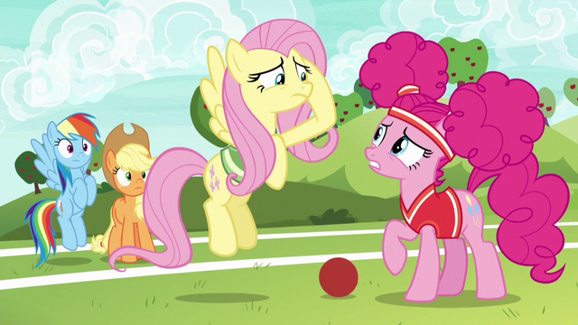 File:Fluttershy and Pinkie overwhelmed by training S6E18.png