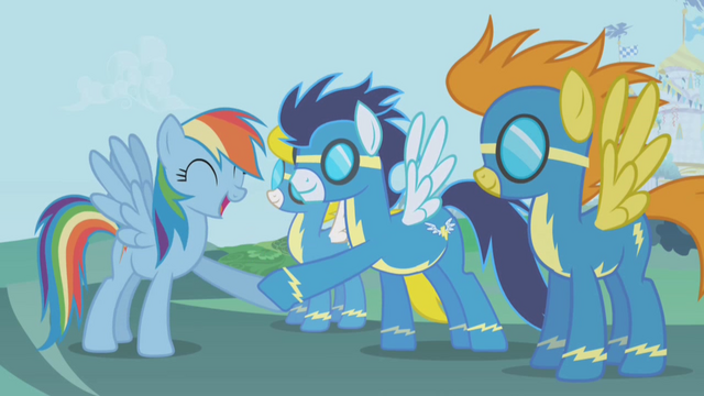 File:Rainbow Dash-Wonderbolts hoofshake S1E03.png
