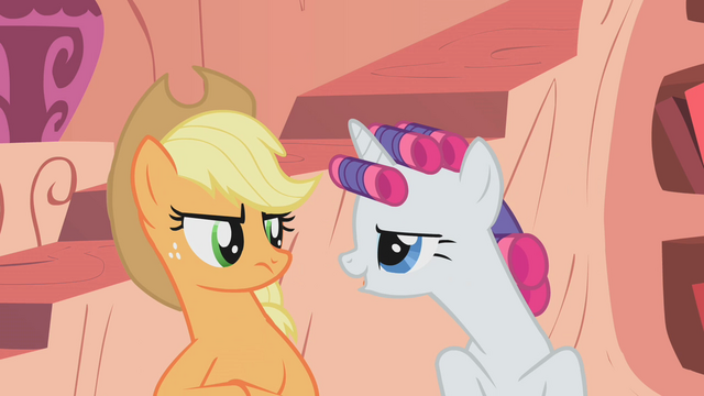 """File:Rarity """"rubbing it in"""" at Applejack S1E8.png"""