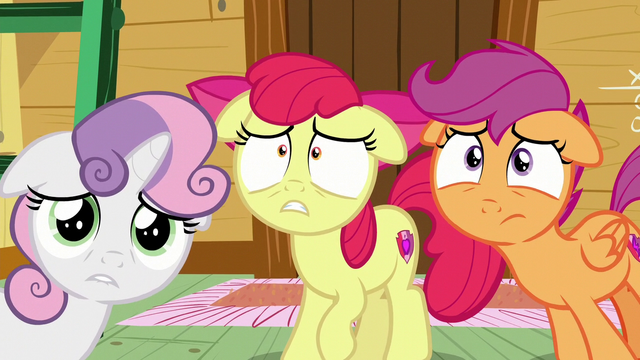File:The Cutie Mark Crusaders worried S6E4.png