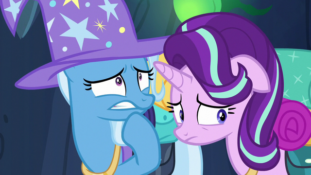 File:Trixie and Starlight worried about Discord S6E26.png
