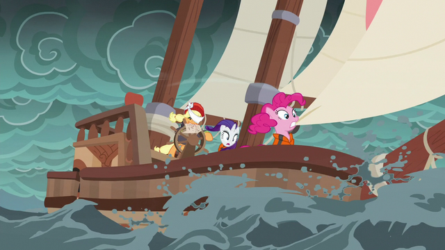 File:The ponies' ship rocks uneasily in the storm S6E22.png