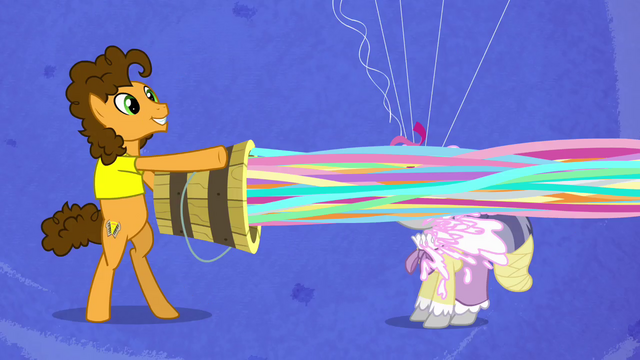 File:Cheese launches streamers onto the pony's face S4E12.png