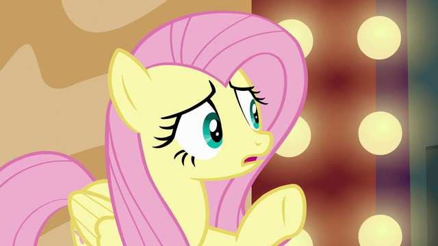 """File:Fluttershy """"the director wants to get rid of her"""" S6E20.png"""