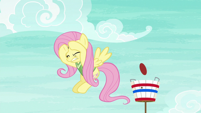 File:Fluttershy cowers under the flying softball S6E18.png