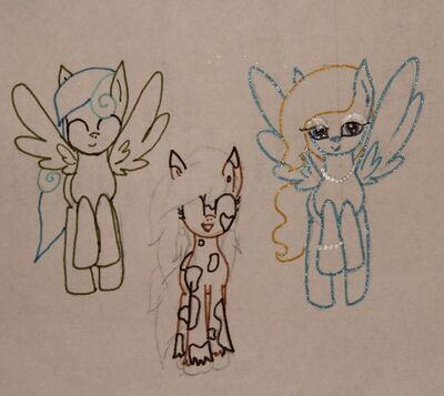 FANMADE OC family Shimmering Star, Summer Breeze, and Canopy