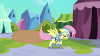 Fluttershy reluctantly follows Rainbow Dash S3E02