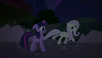 Fluttershy skating on the soapy road S2E02
