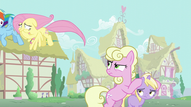 File:Millie glares at Fluttershy while covering Dinky Doo's ears S6E11.png