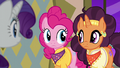 Pinkie and Saffron briefly look at each other S6E12.png