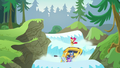 Apple Bloom and ponies go down a waterfall S6E4.png