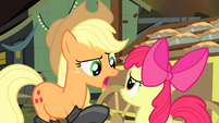 """Applejack """"trying to make this delivery on your own"""" S4E17"""