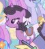 Purple and gray unicorn mare at wedding S2E26
