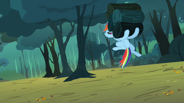 File:Rainbow holding logs S3E6.png