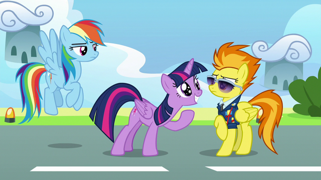 File:Twilight grinning excitedly in Spitfire's face S6E24.png