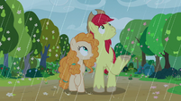 Rain starts falling on Bright Mac and Pear Butter S7E13