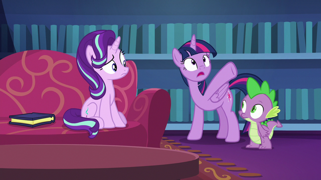 """File:Twilight Sparkle """"turned into all of this"""" S6E21.png"""