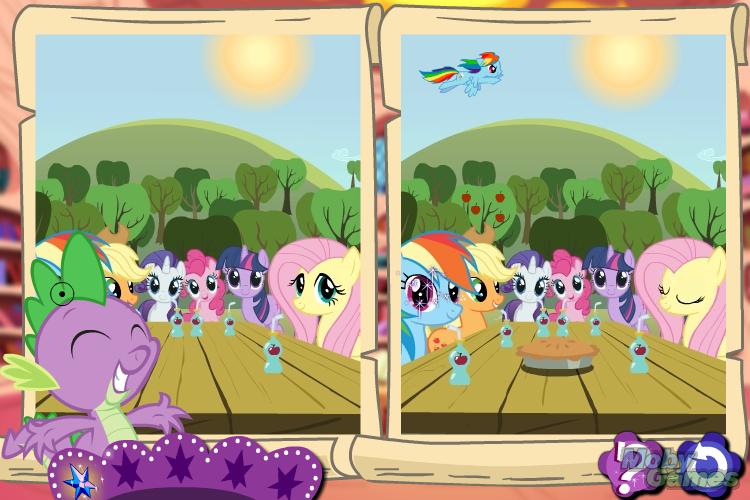 My Little Pony La magia de la amistad Descubre las diferencias