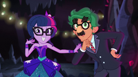 Twilight Sparkle motions for the director to cut EG4b