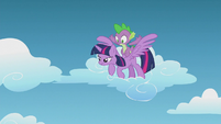 Twilight about to save Fluttershy from falling S5E25