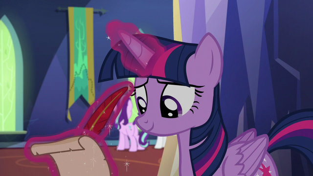 File:Twilight taking notes on Starlight and Rarity S6E21.png