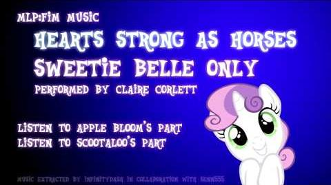 FANMADE Sweetie Belle Only - Hearts Strong As Horses